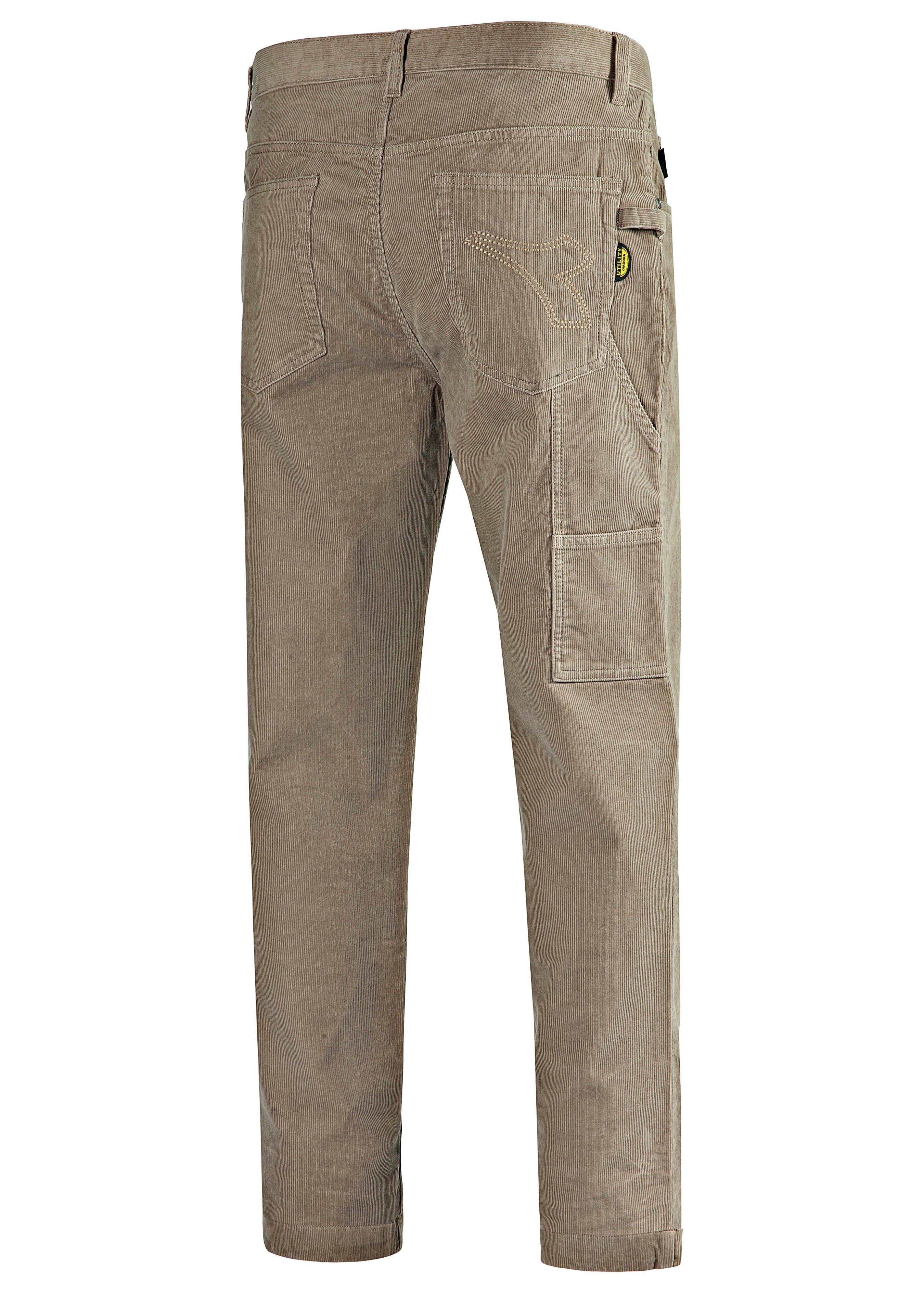 Pantalon en velours côtelé 5 poches 251717L 1