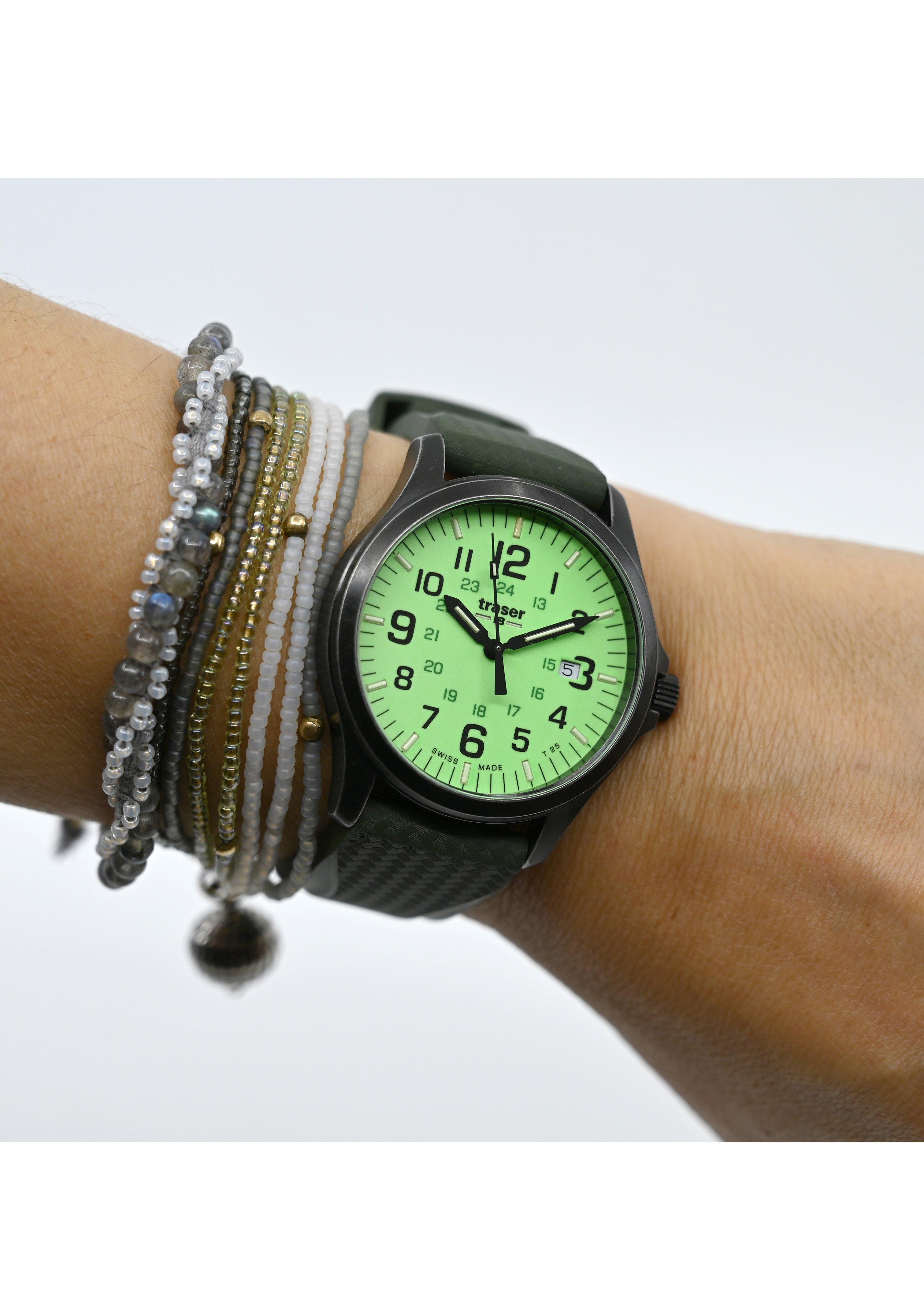 Traser Uhren Armbanduhr P67 Officer Pro Gunmetal Lime 254723 4