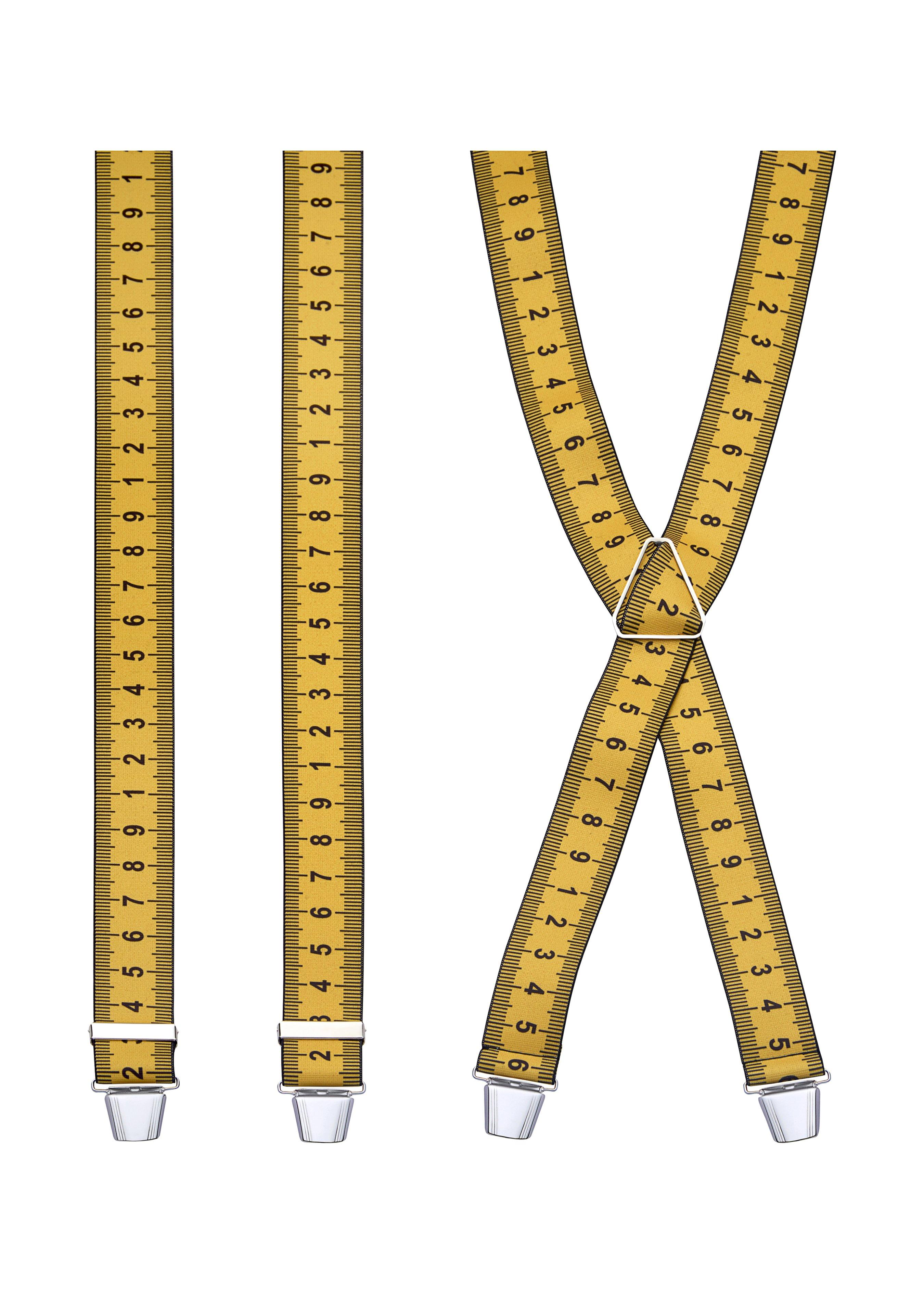 Bretelles élastiques à clips, Ruban métrique 217653 1