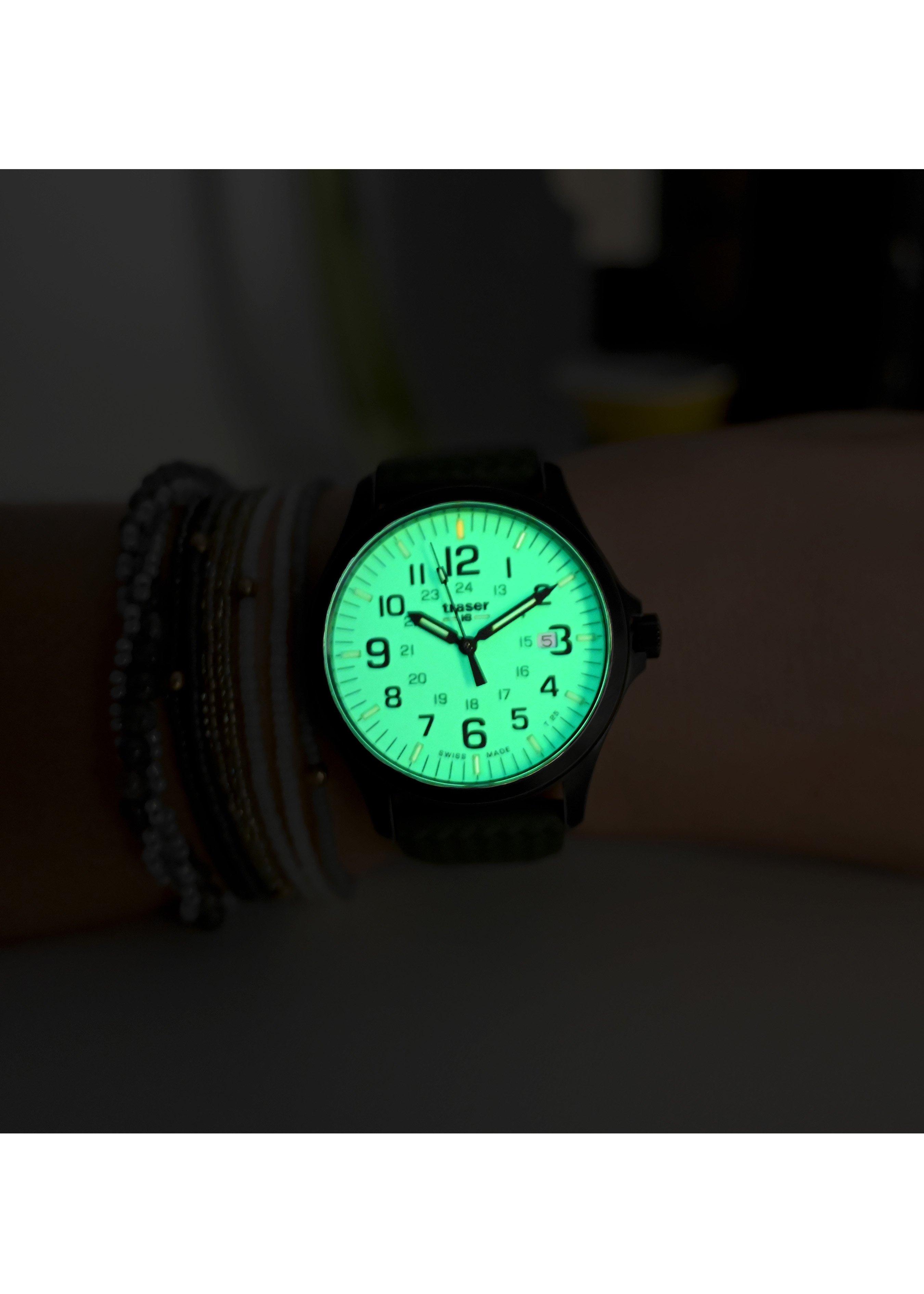 Traser Uhren Armbanduhr P67 Officer Pro Gunmetal Lime 254723 6