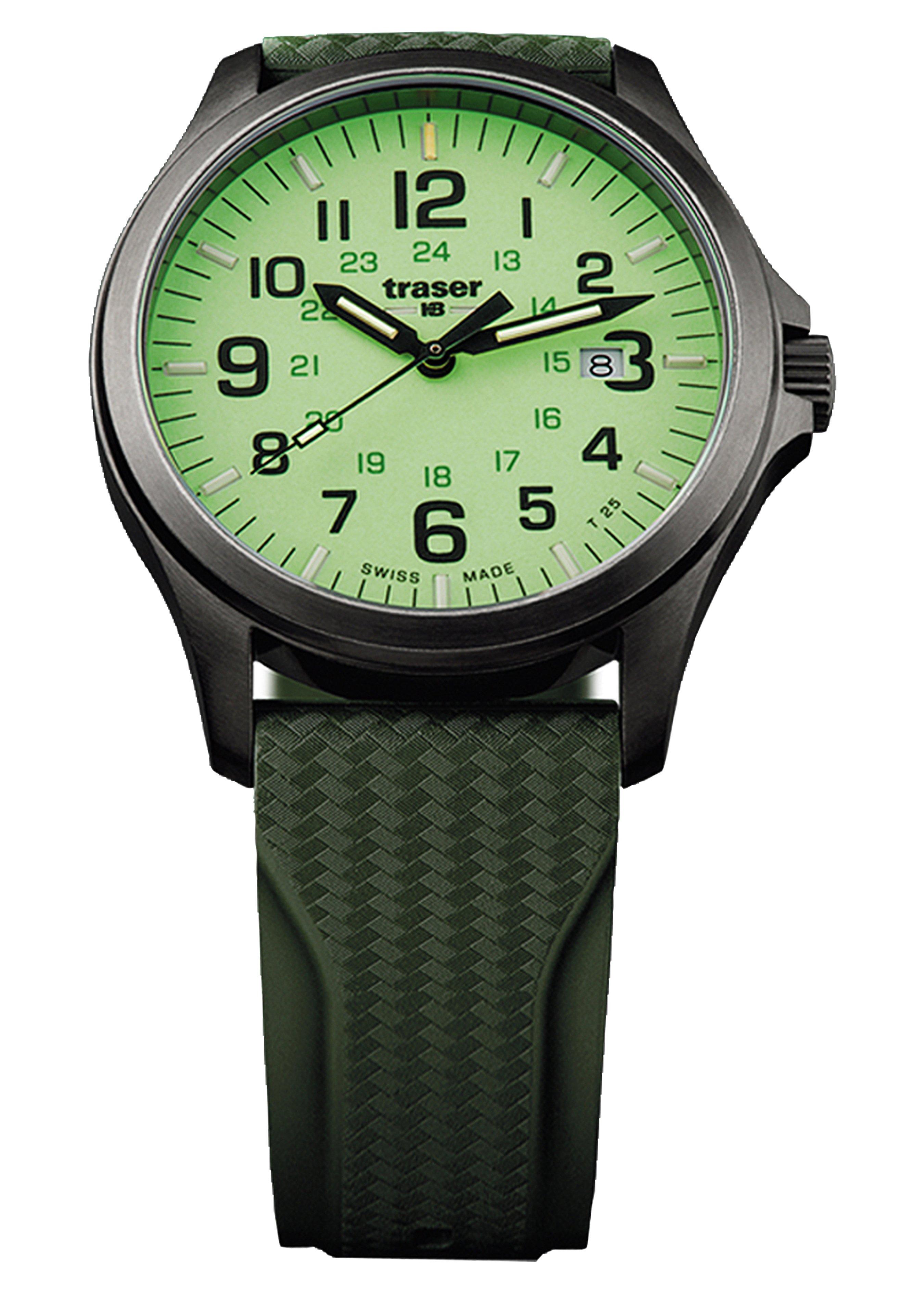 Traser Uhren Armbanduhr P67 Officer Pro Gunmetal Lime 254723 1