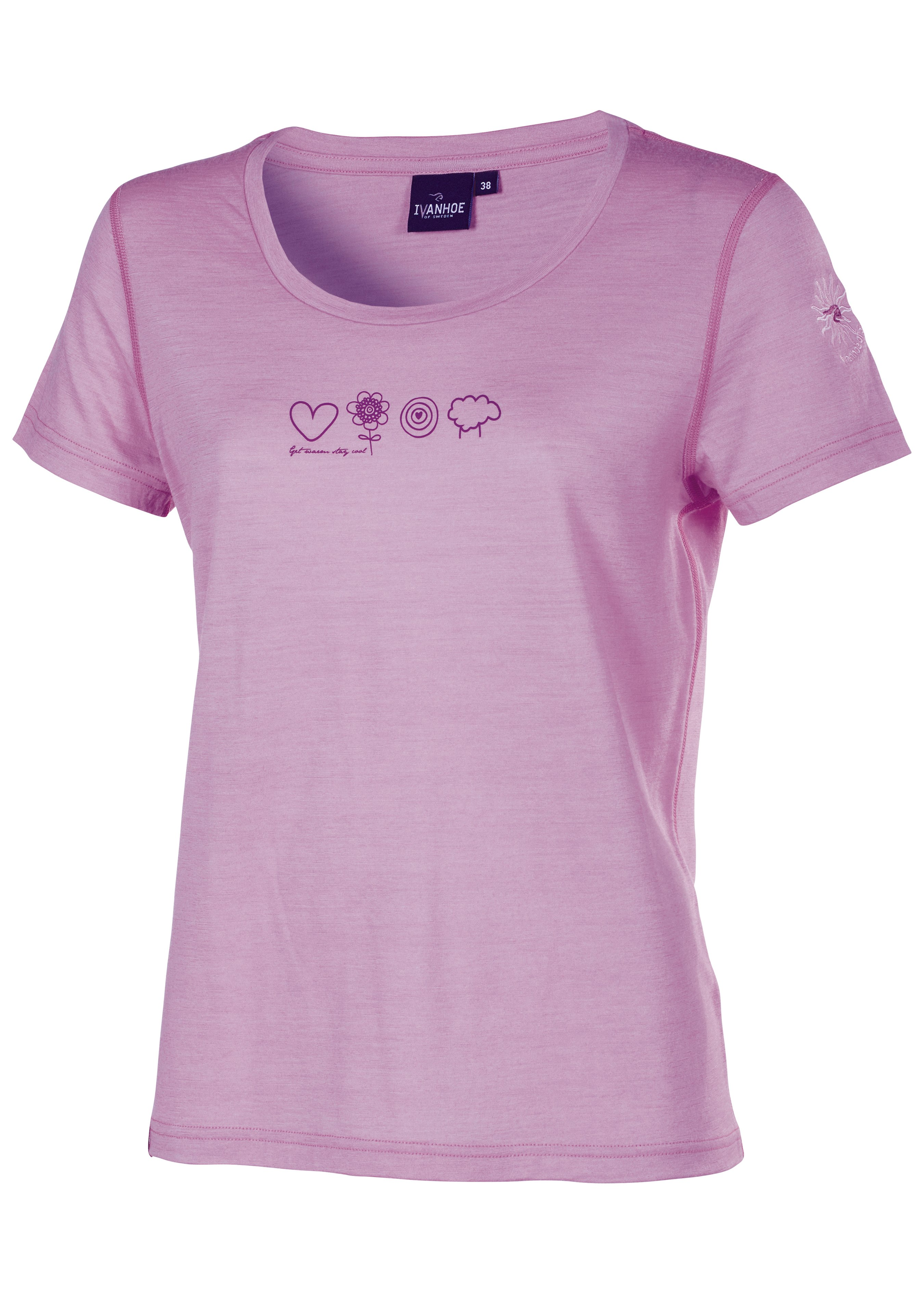 T-shirt imprimé en laine de mérinos pour dames 28604938 1