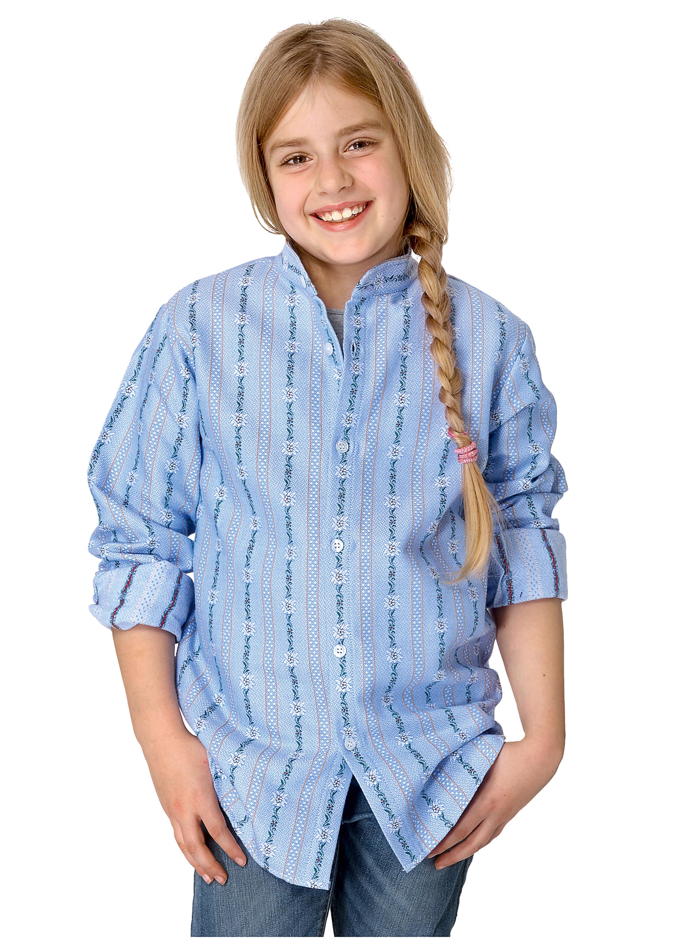 Kinder Edelweiss Hemd langarm ohne Kragen 272636104 2