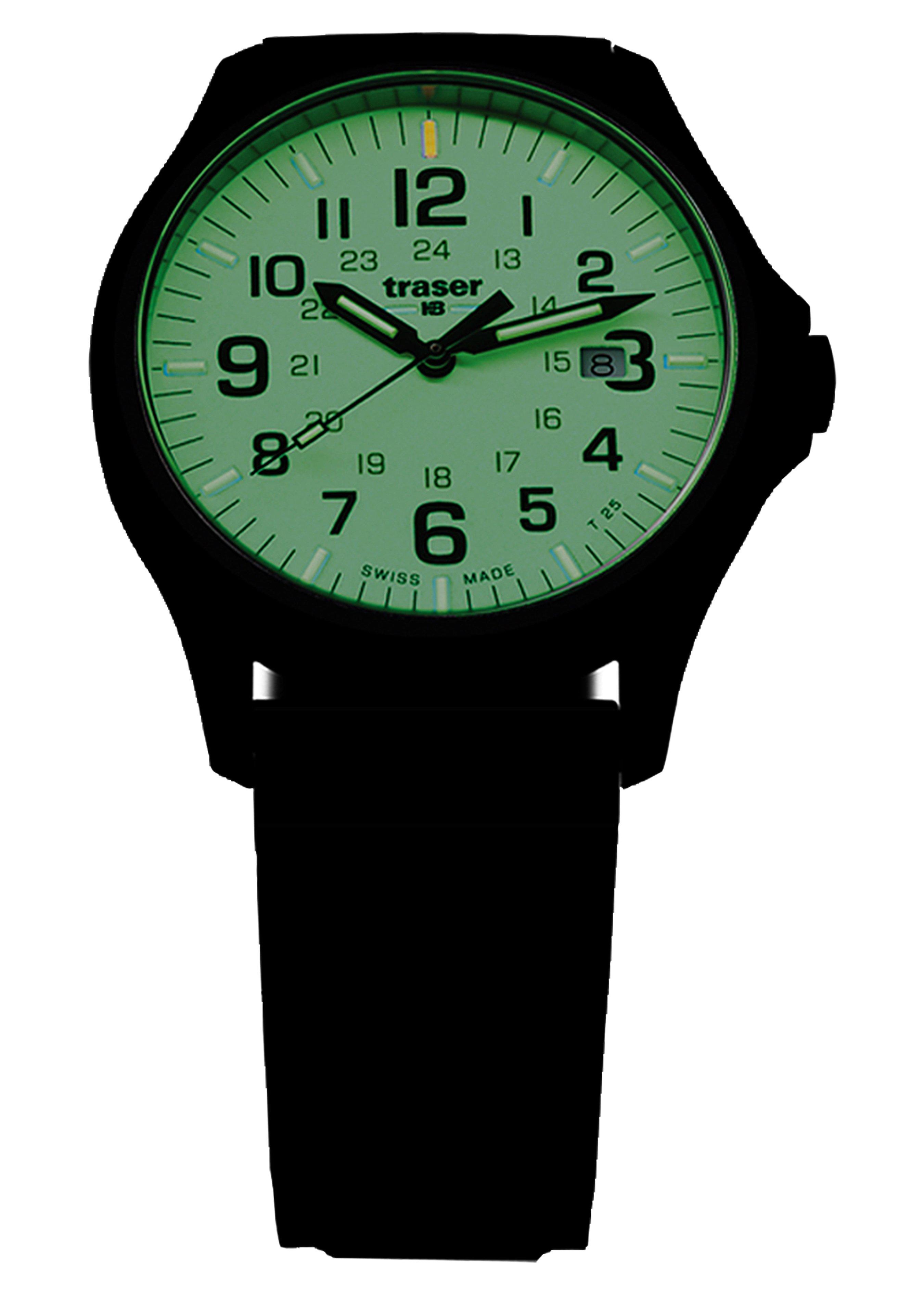 Traser Uhren Armbanduhr P67 Officer Pro Gunmetal Lime 254723 2
