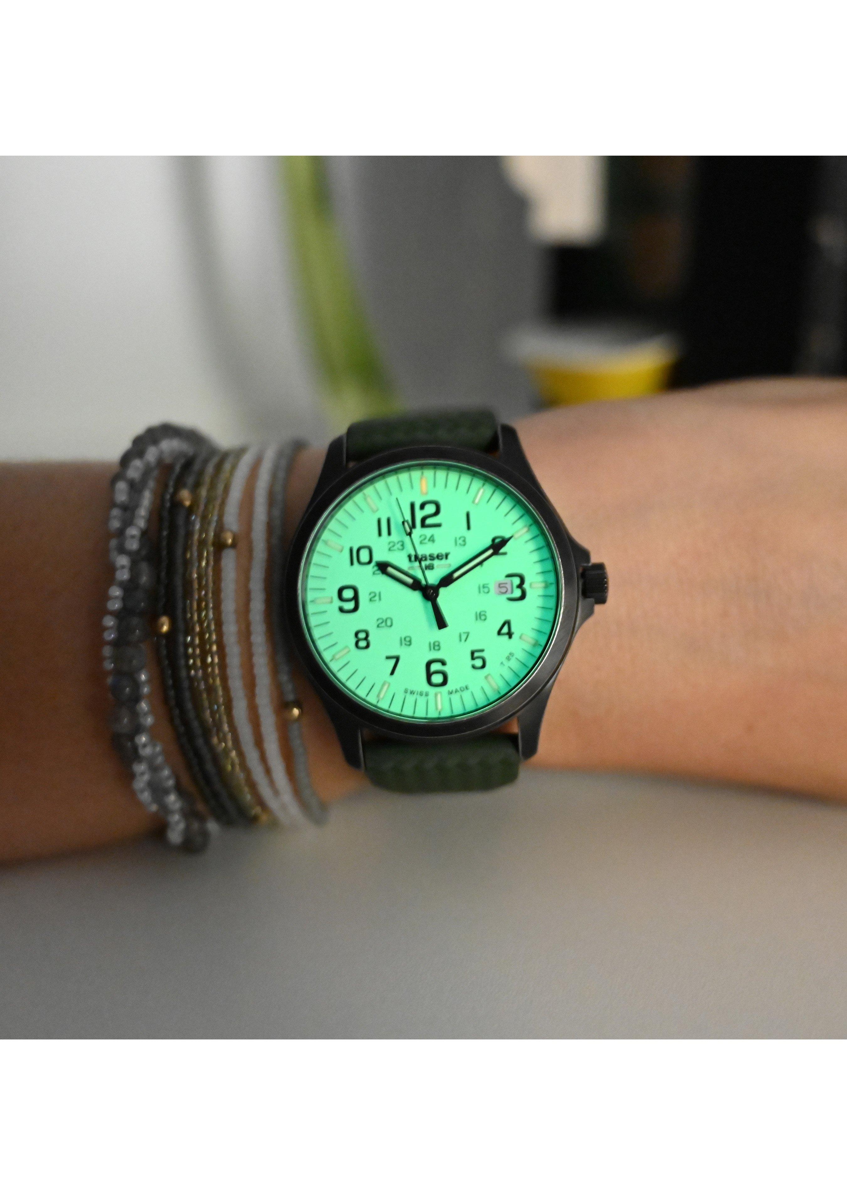 Traser Uhren Armbanduhr P67 Officer Pro Gunmetal Lime 254723 5