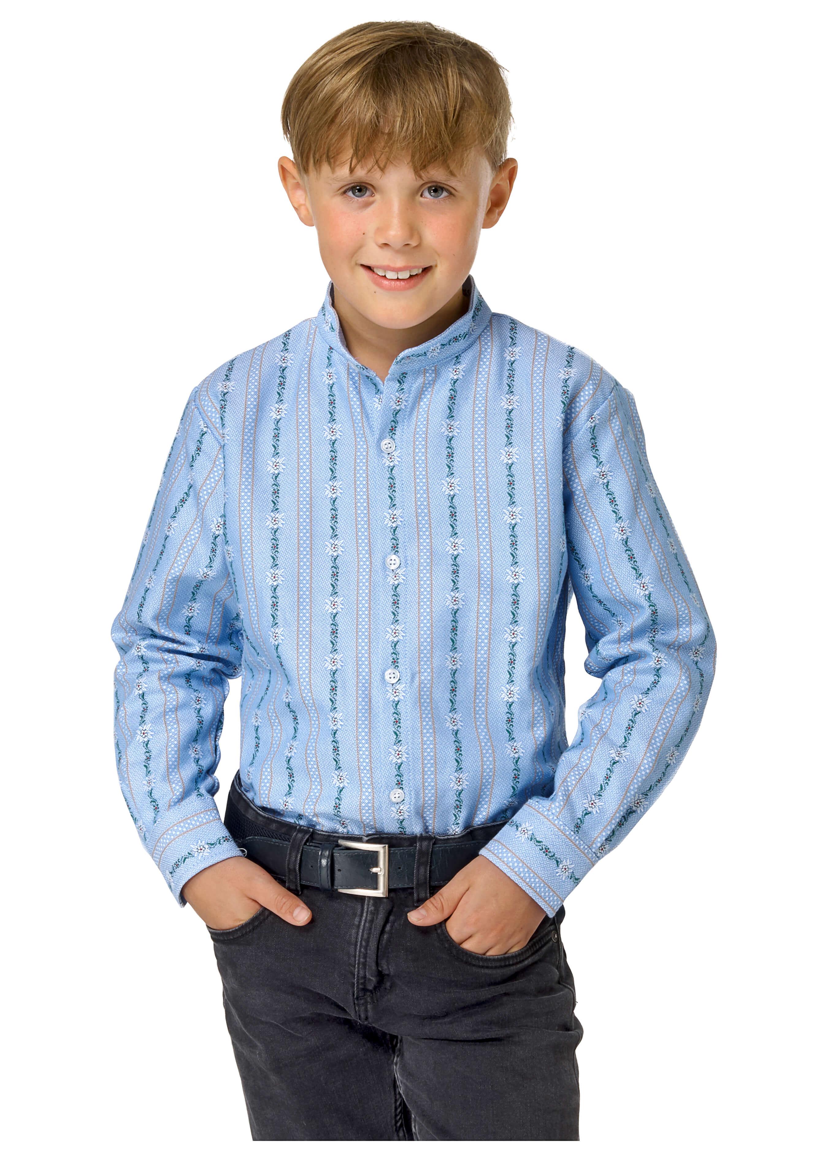 Kinder Edelweiss Hemd langarm ohne Kragen 272636104 3