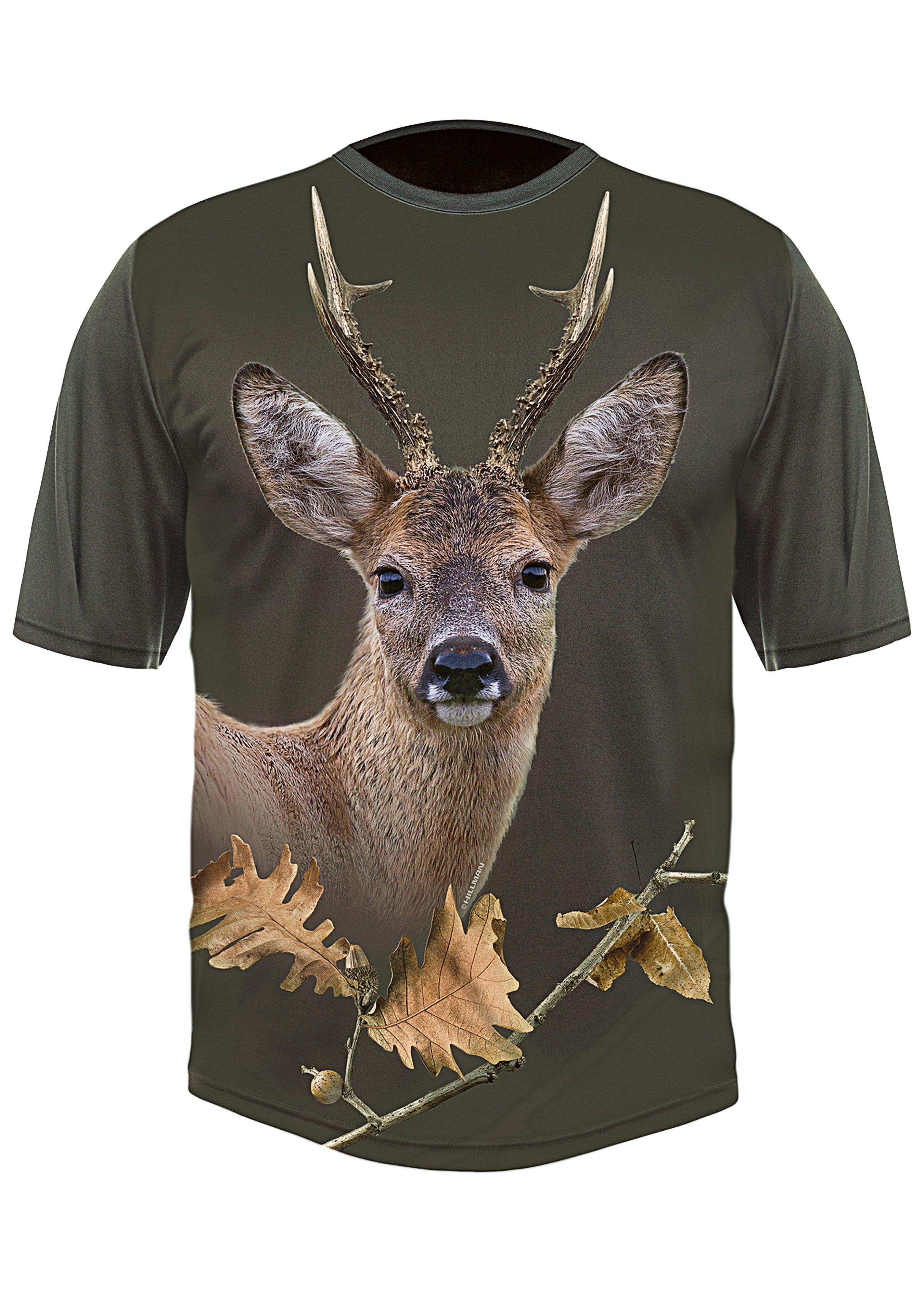 T-shirt 3D Chevreuil olive 243824L 1
