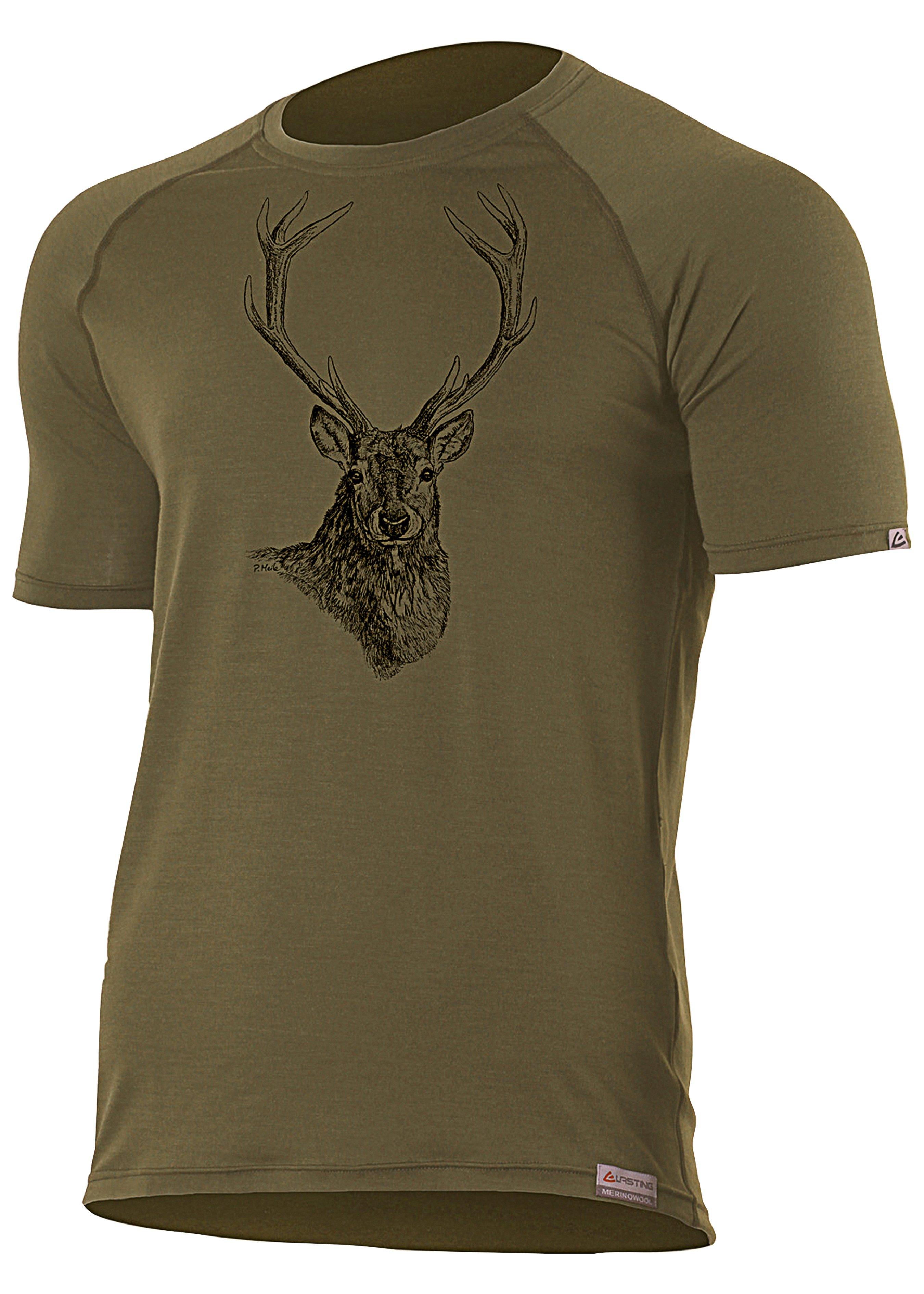 Merino T-Shirt Hirsch 231003L 1
