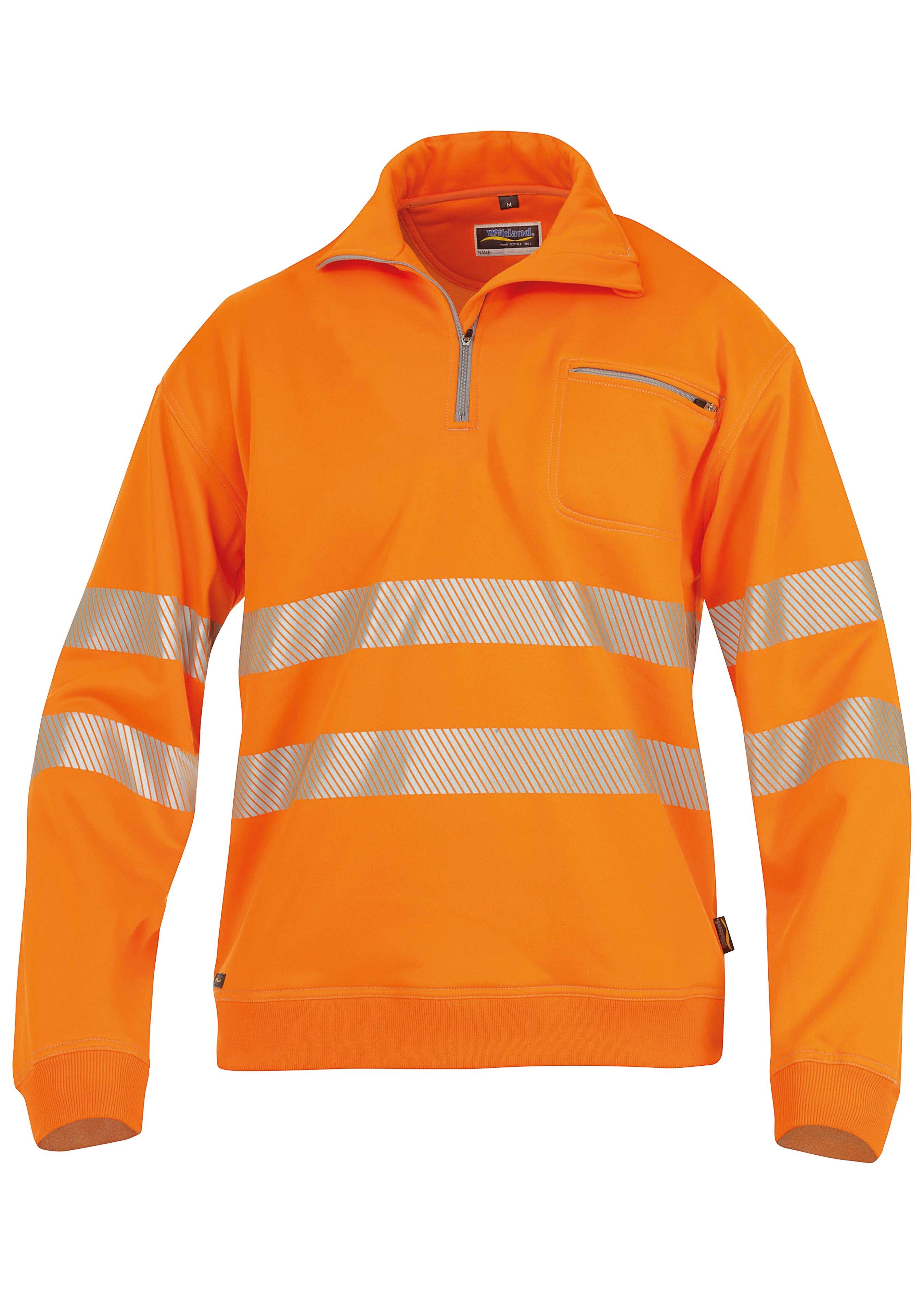 Wikland Warnschutz Zip-Sweatshirt 1323, EN 471 Kl. 3 172454L 1