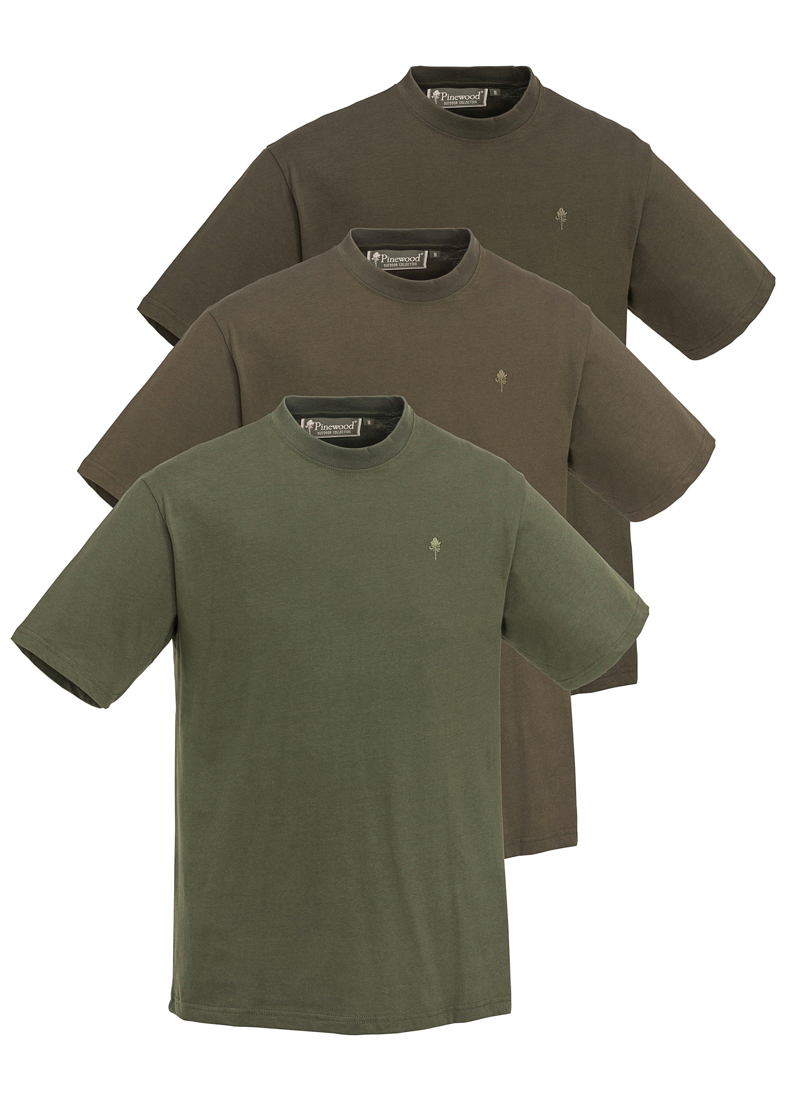Pinewood Qualitäts T-Shirts 3-er Pack 230601L 1