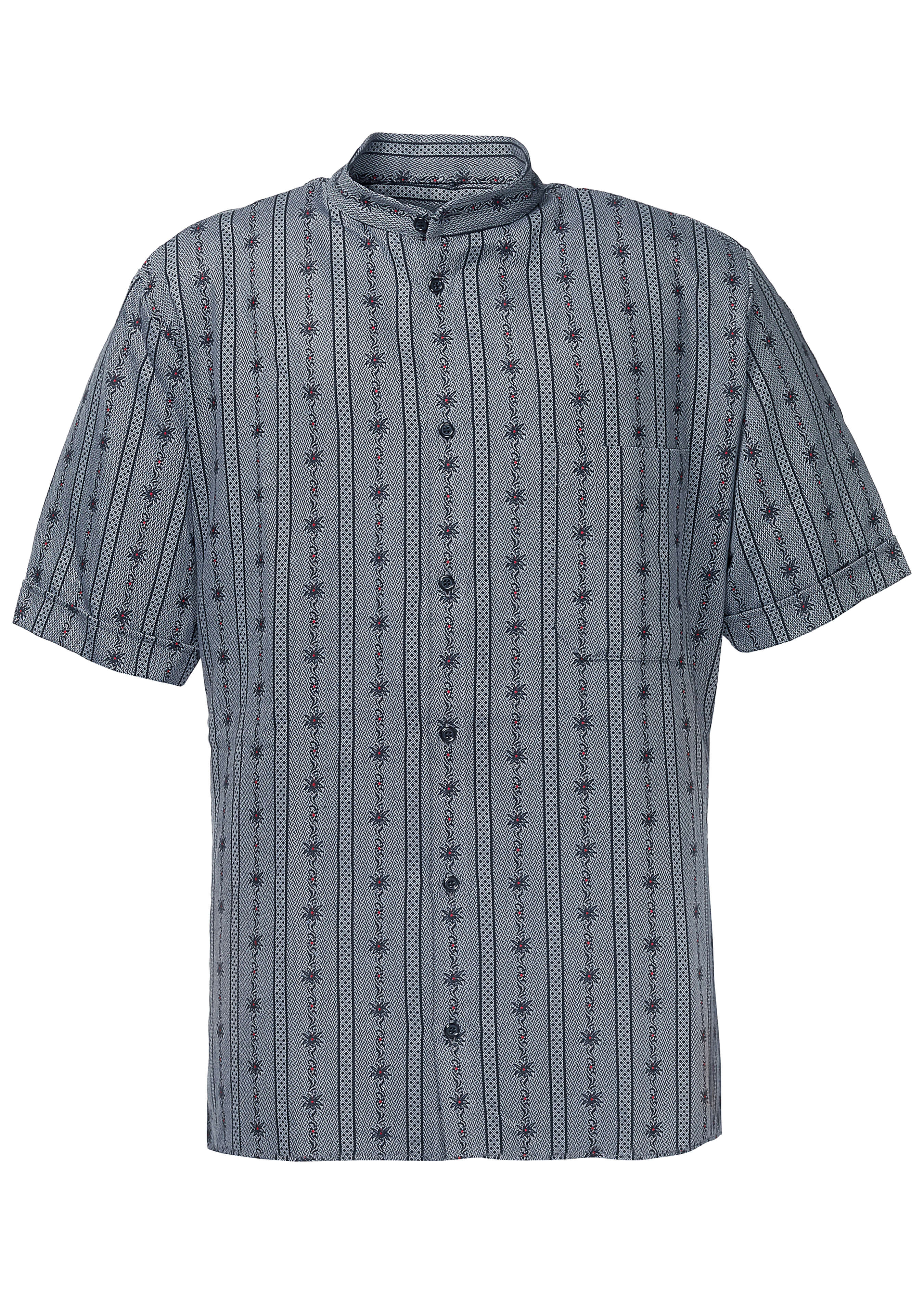 Edelweiss Hemd, ohne Kragen, kurzarm 27321236 1