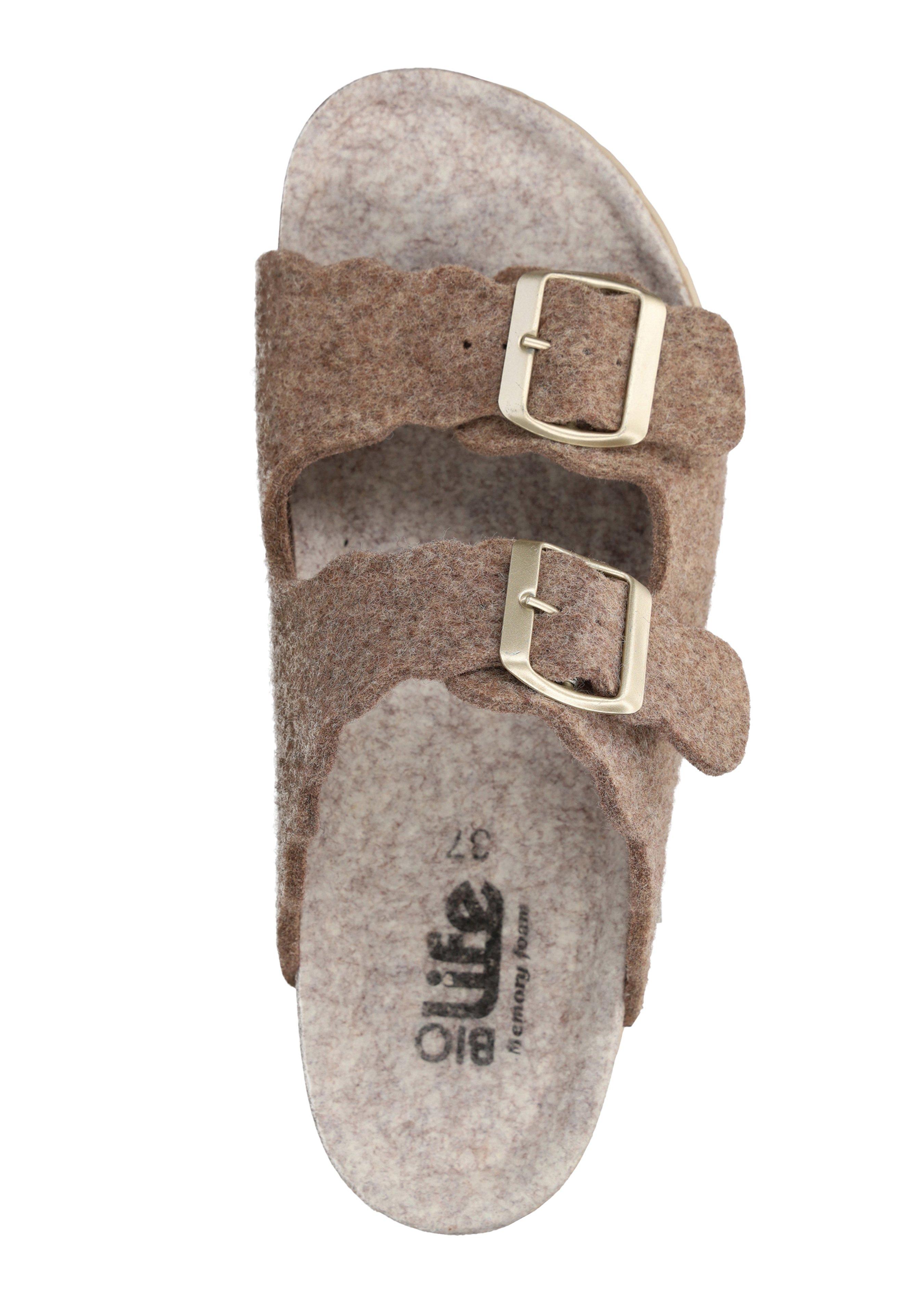 Sandales en feutre à assise plantaire creuse pour dames 43221743 2